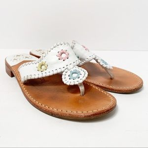 Jack Rogers Napa Valley White Flip Flop Sandals